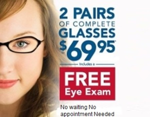 free eye exam with glasses